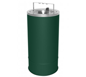 "Ex-Cell Kaiser 160F-BG HGR Pioneer Floor Urn with Flip Top and Bridge - 10"" Dia. x 20"" H - Hunter Green in Color"