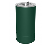 "Ex-Cell Kaiser 160F HGR Pioneer Floor Urn with Flip Top - 10"" Dia. x 20"" H - Hunter Green in Color"
