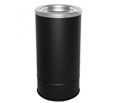 "Ex-Cell Kaiser 160S BLX Pioneer Floor Urn with Sand Top - 10"" Dia. x 20"" H - Textured Black in Color"