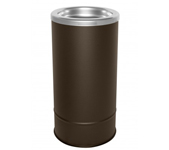 "Ex-Cell Kaiser 160S BRX Pioneer Floor Urn with Sand Top - 10"" Dia. x 20"" H - Textured Brown in Color"