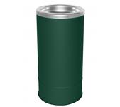 "Ex-Cell Kaiser 160S HGR Pioneer Floor Urn with Sand Top - 10"" Dia. x 20"" H - Hunter Green in Color"