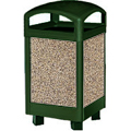 Landmark Series™ Steel Container, Hinged Dome Top with 24 U.S. gal (90.8 L) Galvanized Liner - 29 U.S. GAL