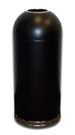 "Imprezza DOT15BKGL Bullet Dome Open Top Waste Can - 15 Gallon Capacity - 15"" Dia. x 35 1/2"" H - Black in Color"