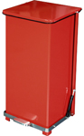"Imprezza QSO24RD Quiet Close Step On Trash Can - 24 Gallon Capacity - 12 1/4"" D x 14"" W x 30 3/8"" H - Red in Color"