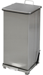 "Imprezza QSO24SS Quiet Close Step On Trash Can - 24 Gallon Capacity - 12 1/4"" D x 14"" W x 30 3/8"" H - Stainless Steel in Color"