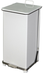 "Imprezza QSO24WH Quiet Close Step On Trash Can - 24 Gallon Capacity - 12 1/4"" D x 14"" W x 30 3/8"" H - White in Color"