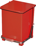 "Imprezza QSO7RD Quiet Close Step On Trash Can - 7 Gallon Capacity - 12 1/4"" D x 14"" W x 17 1/2"" H - Red in Color"