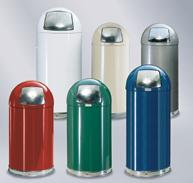 R1536e Econo Line Bullet Trash Can 15 Gallon Capacity