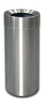 "Imprezza SSFT26 Funnel Top Garbage Can - 26 Gallon Capacity - 15 7/8"" Dia. x 32 1/8"" H - Stainless Steel"