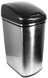 13 Gallon Hands-Free, Touchless, Automatic Lid Opening Trash Can - Stainless Steel - Kitchen - Lunchroom - Office