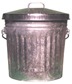 "10GPCL Galvanized Trash Can with Lid - Medium Duty - 10.25 Gallon Capacity - 16"" Dia. x 18"" H"