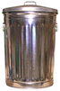 "2200CL Galvanized Trash Can with Lid - Economy Grade - 20 Gallon Capacity - 17 5/8"" Dia. x 27"" H"