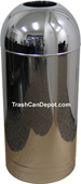 Monarch Series Open Dome Top Trash Can - Chrome - 15 Gallon Capacity