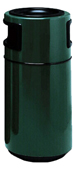 Fiberglass Side Entry Round Ash N Trash  - 25 Gallon Capacity