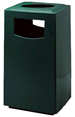 Fiberglass Side Entry Square Ash 'N Trash Receptacle - 30 Gallon Capacity