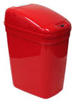 "5 Gallon Touchless Medical Infrared Trash Can - Red in Color - 14 1/2"" W x 10 1/2"" L x 20"" H"