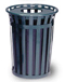 Stadium Series SMB - Round Trash Receptacle - 36 Gallon